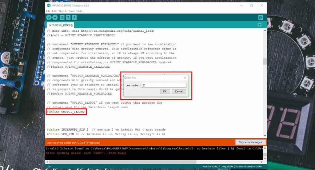 کنترل مدل سه بعدی در نرم افزار Processing و Arduino IDE