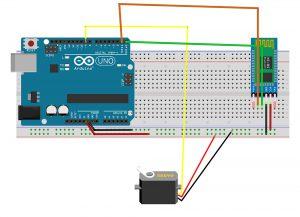 اتصالات مدار کنترل سرو موتور با بلوتوث Bluetooth - دیجی اسپارک