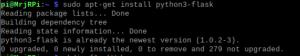 دستور نصب python3-flask در ترمینال لینوکس - دیجی اسپارک