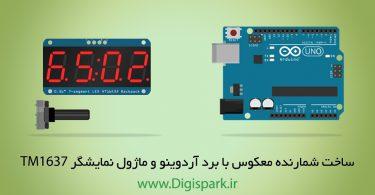 Contdown timer with arduino seven segment tm1637 digispark