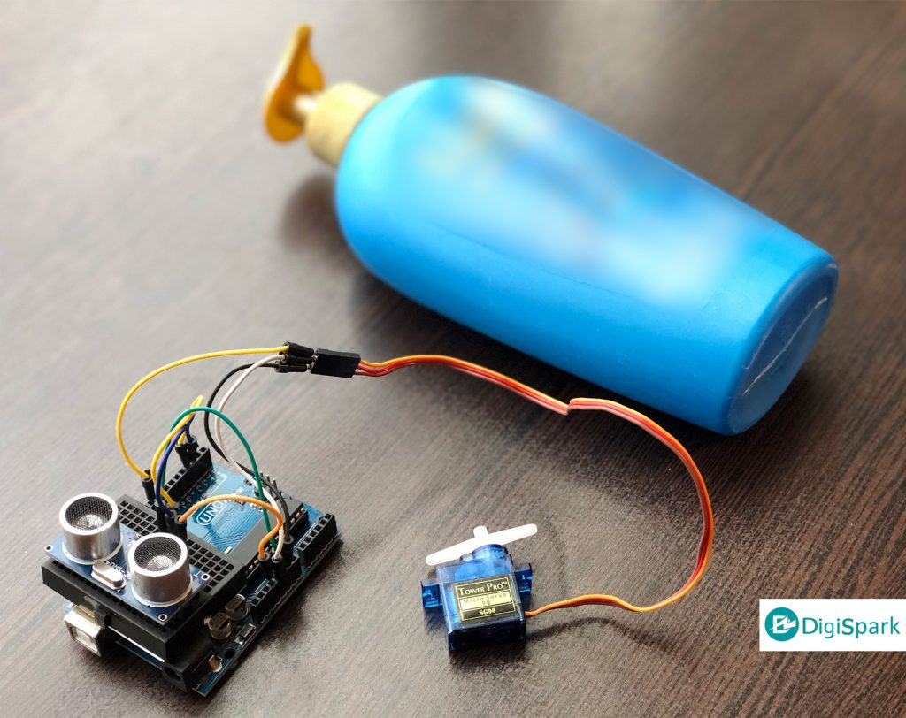 دستگاه مایع صابون ریز اتوماتیک کرونا Corona Hand sanitizer با آردوینو - دیجی اسپارک