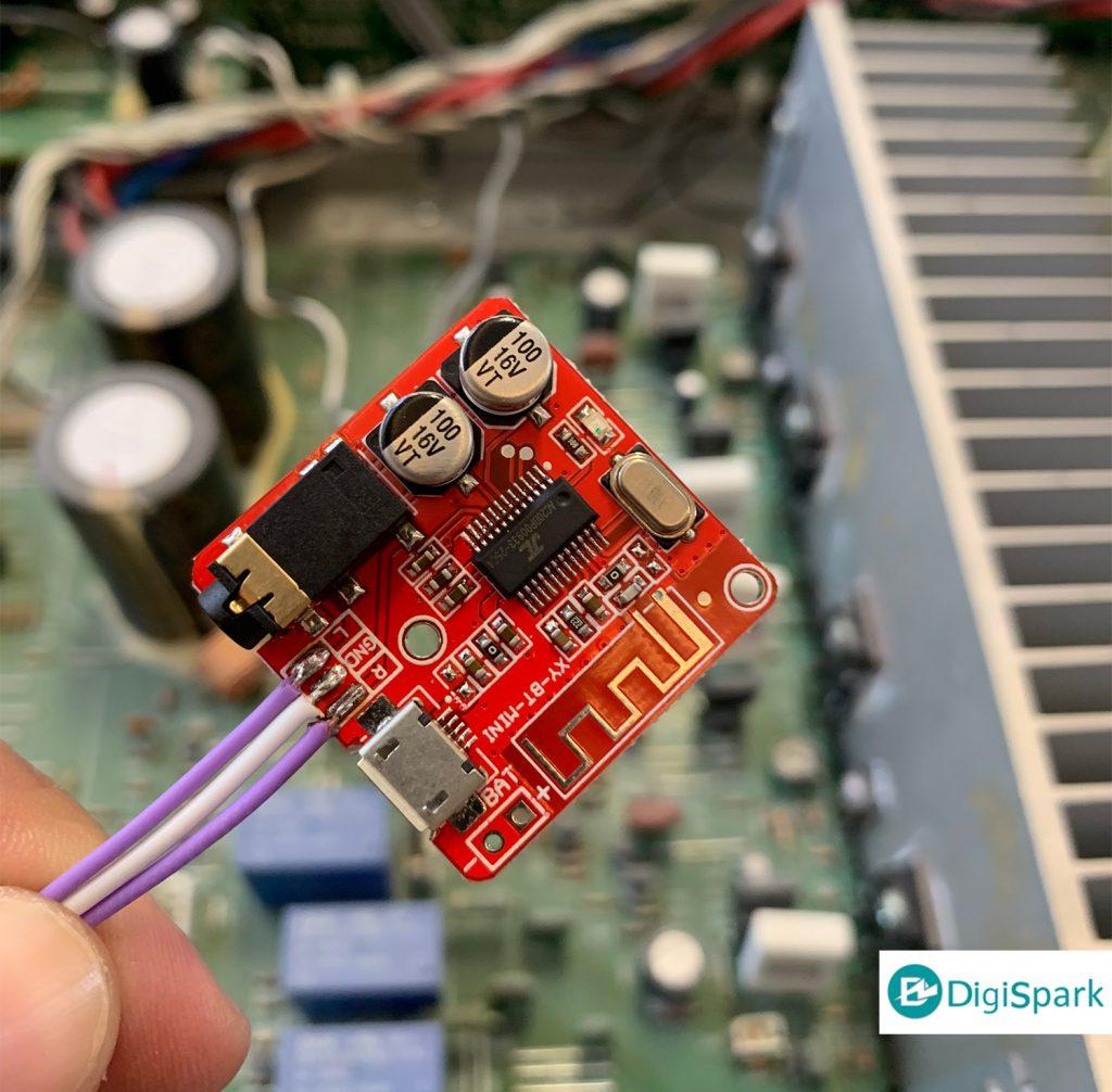 اتصال ماژول بلوتوث صوت به آمپلی فایر قدیمی - دیجی اسپارک