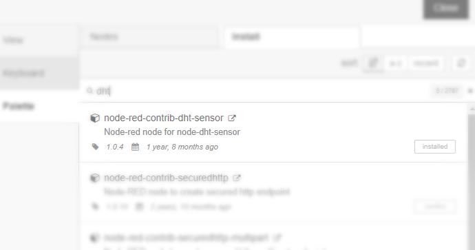 نصب نود DHT برای گلدان هوشمند در نرم افزار Node-Red - دیجی اسپارک