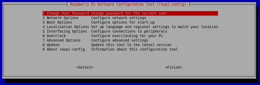 تنظیمات برد رزبری پای raspi-config - دیجی اسپارک