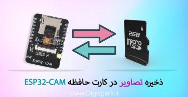ذخیره تصاویر در کارت حافظه ESP32-CAM