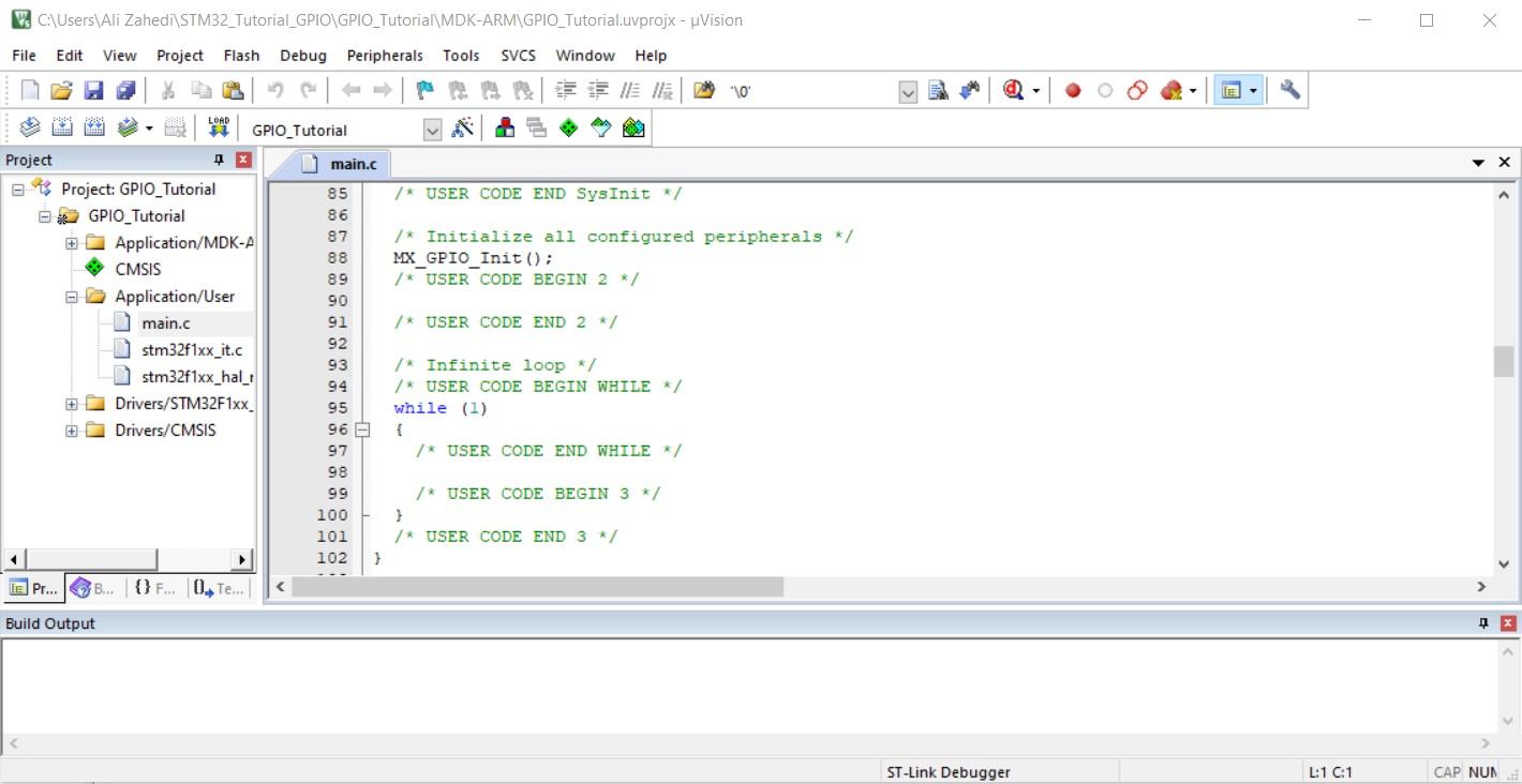 کد نویسی برد STM32 در نرم افزار KEIL دیجی اسپارک