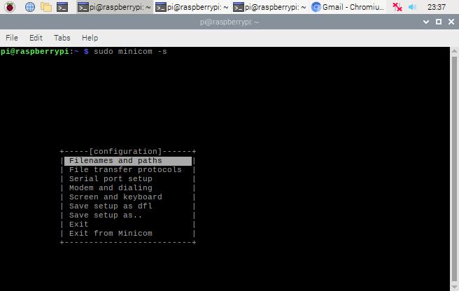 راه اندازی نرم افزار minicom در رزبری پای - دیجی اسپارک