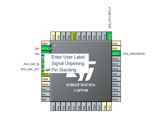 STM32CubeMX Enter Label