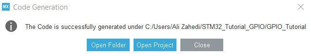 آموزش برد STM32 Open Project دیجی اسپارک