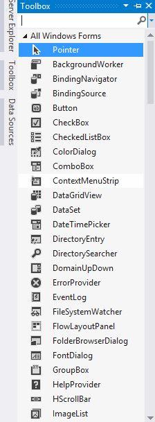 استفاده از Toolbox در نرم افزار ویژوال استودیو - دیجی اسپارک