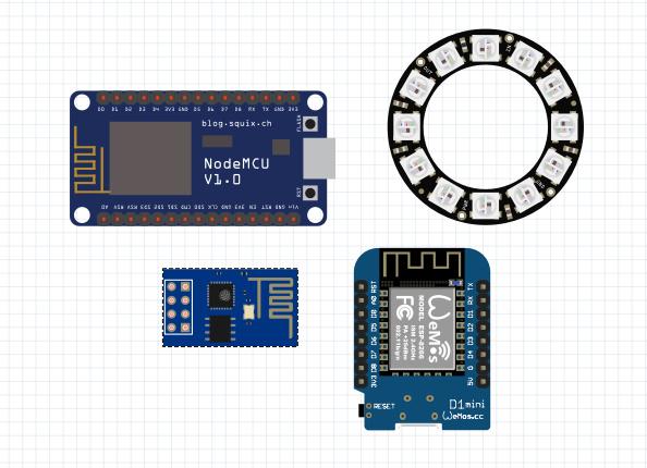 وسایل مورد نیاز کنترل بیسیم نئوپیکسل Neopixel - دیجی اسپارک