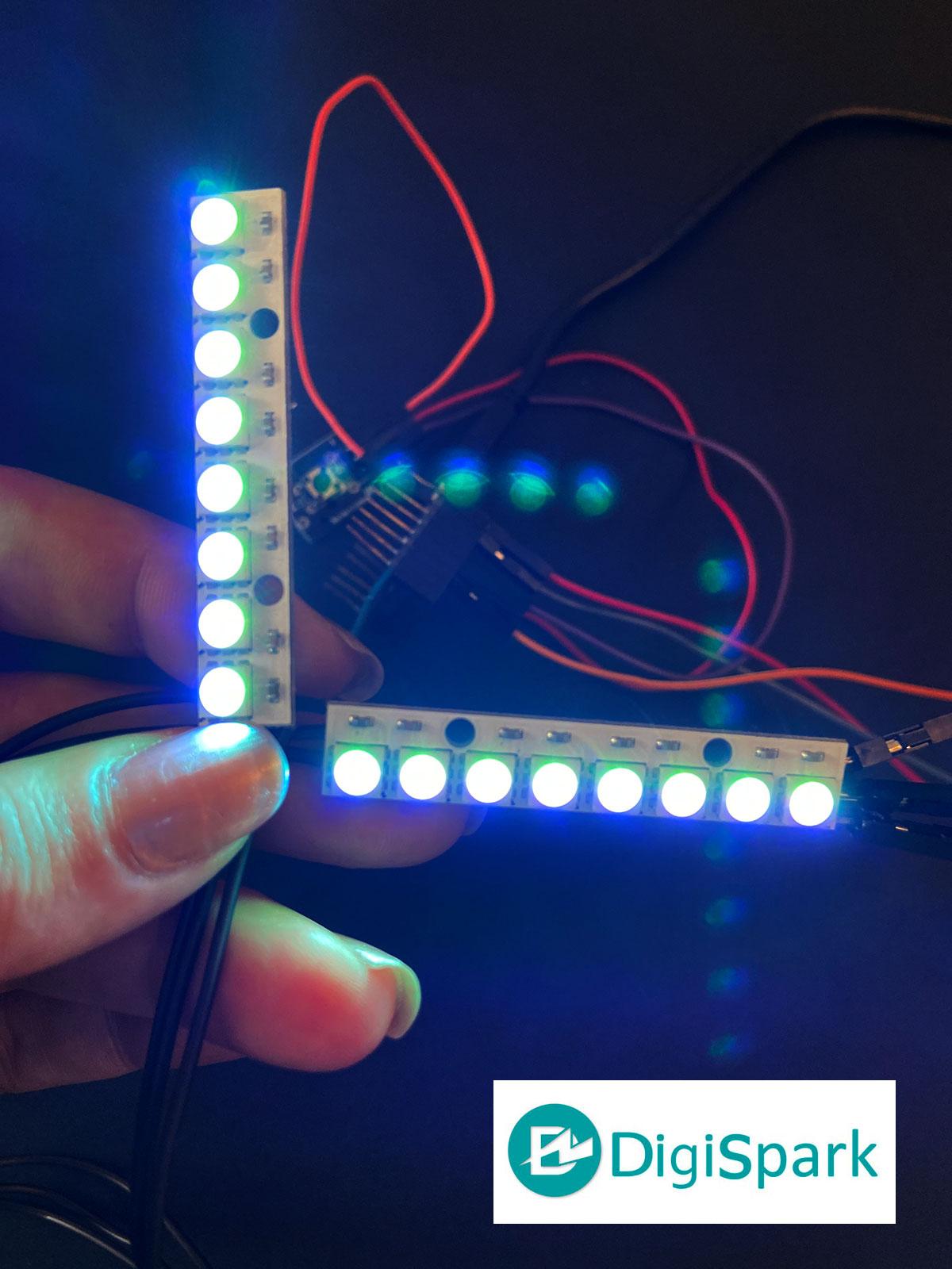راه اندازی نوار ال ای دی 8X1 تراشه WS2812B RGB با ESP8266 - دیجی اسپارک