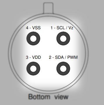 وضعیت پایههای سنسور دماسنج MLX90614 مادون قرمز - دیجی اسپارک