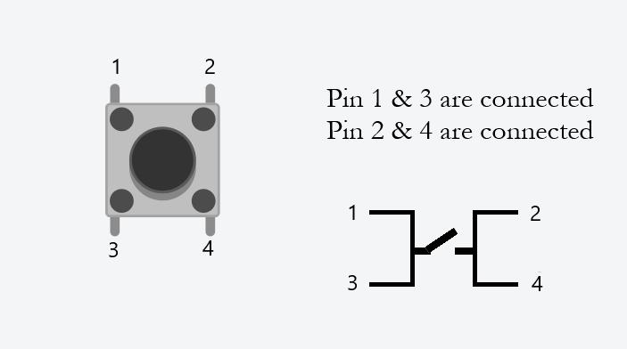 شماتیک اتصالات کلید برای چراغ مطالعه با آردوینو - دیجی اسپارک