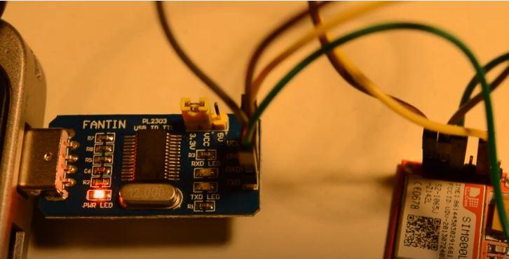 اتصال سیم کارت sim800c به مبدل سریال به USB - دیجی اسپارک