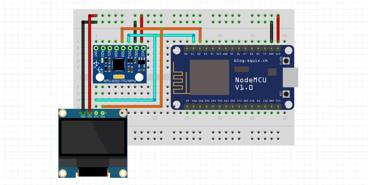 راه اندازی ماژول mpu6050 با Nodemcu و OLED - دیجی اسپارک