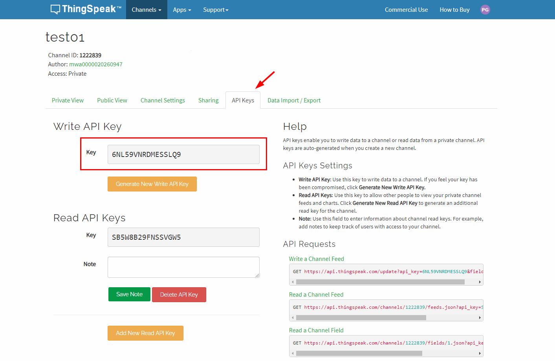 افزودن API در پلتفرم اینترنت اشیا ThingSpeak -دیجی اسپارک