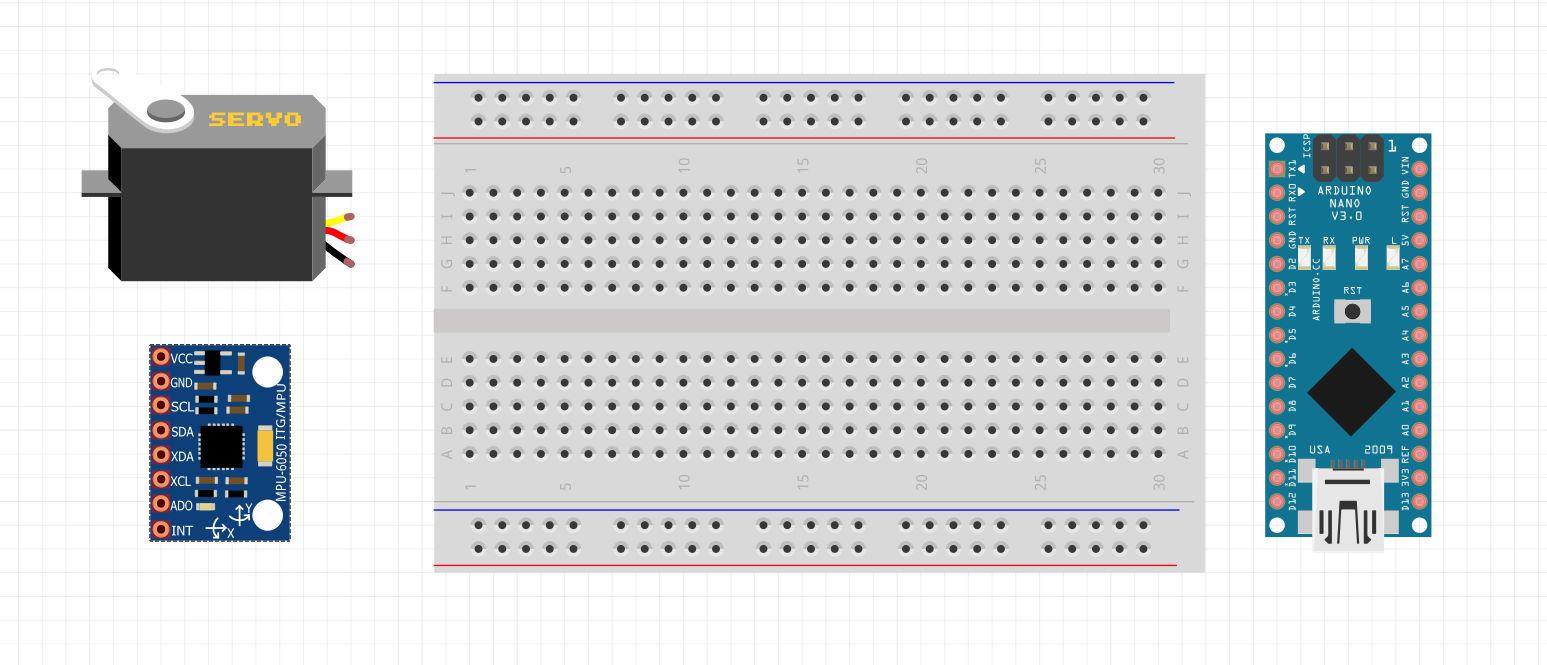 وسایل لازم برای کنترل سرو با ماژول MPU6050 - دیجی اسپارک