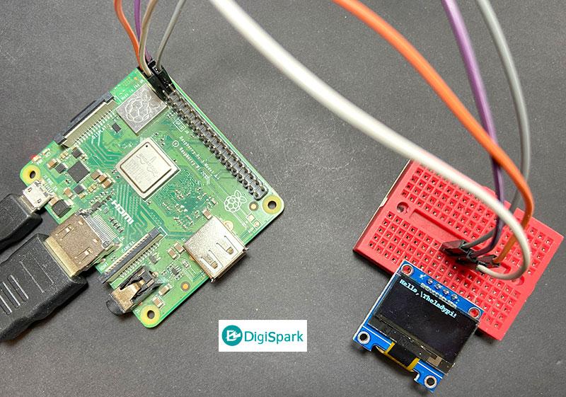 روش نمایش متن در راه اندازی نمایشگر OLED با رزبری پای - دیجی اسپارک