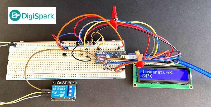 پروژه ترموستات دیجیتال با سنسور LM35 و برد آردوینو نانو Nano - دیجی اسپارک