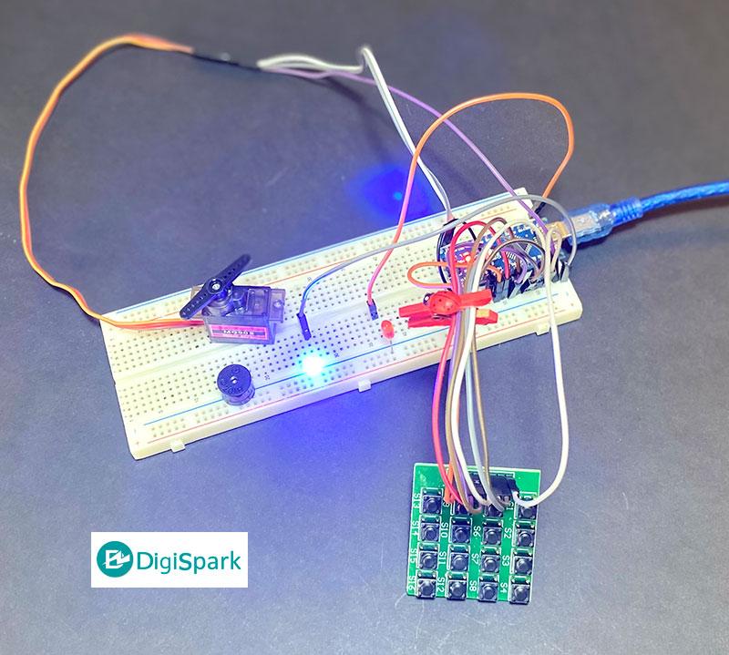 پروژه ساخت قفل رمزی آردوینو نانو - دیجی اسپارک