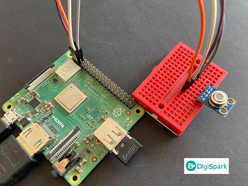 اتصال و راه اندازی ماژول MLX90614 با برد رزبری پای - دیجی اسپارک