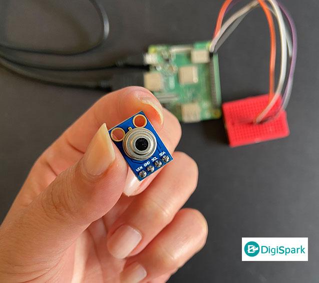 سنسور دماسنج غیرتماسی MLX90614 با برد رزبری پای - دیجی اسپارک
