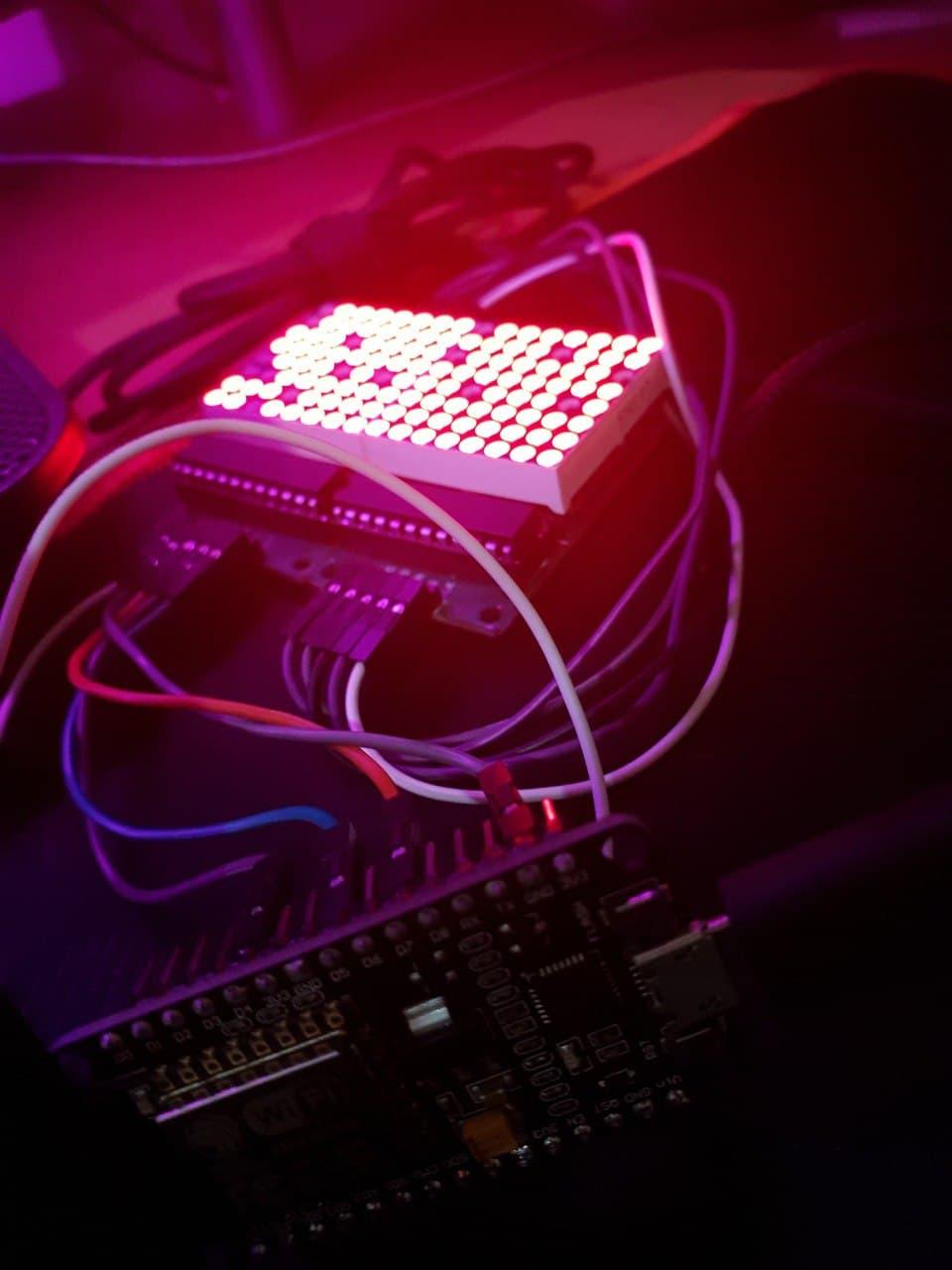 آموزش کامل کنترل ماژول دات ماتریس Max7219 با برد Nodemcu - دیجی اسپارک