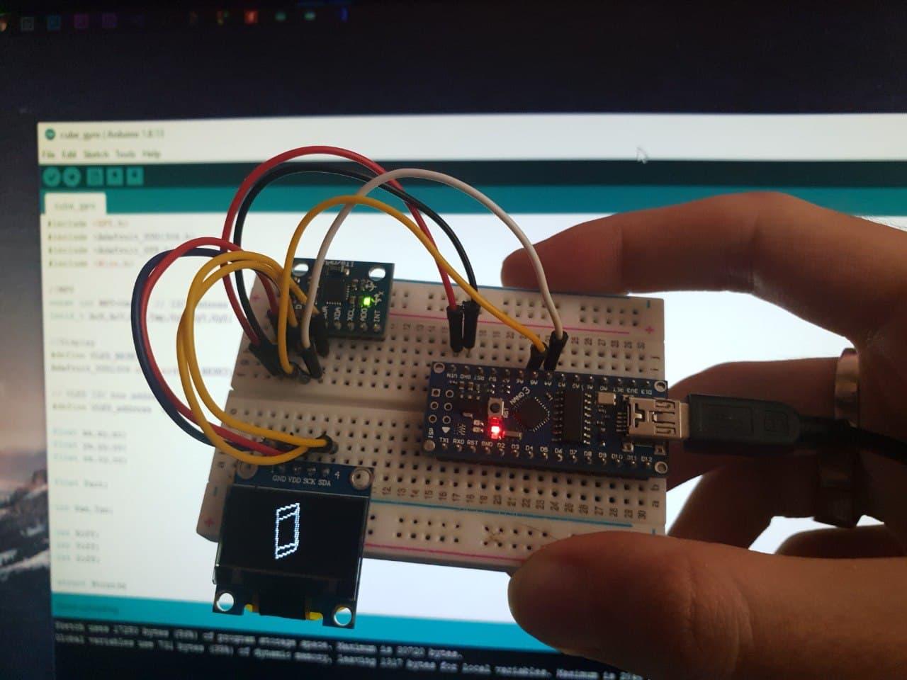 پروژه راه اندازی ماژول MPU6050 با آردوینو نانو Nano و OLED - دیجی اسپارک