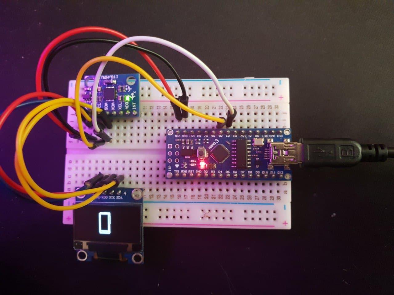 راه اندازی ماژول MPU6050 با نمایشگر OLED و برد آردوینو نانو Nano - دیجی اسپارک