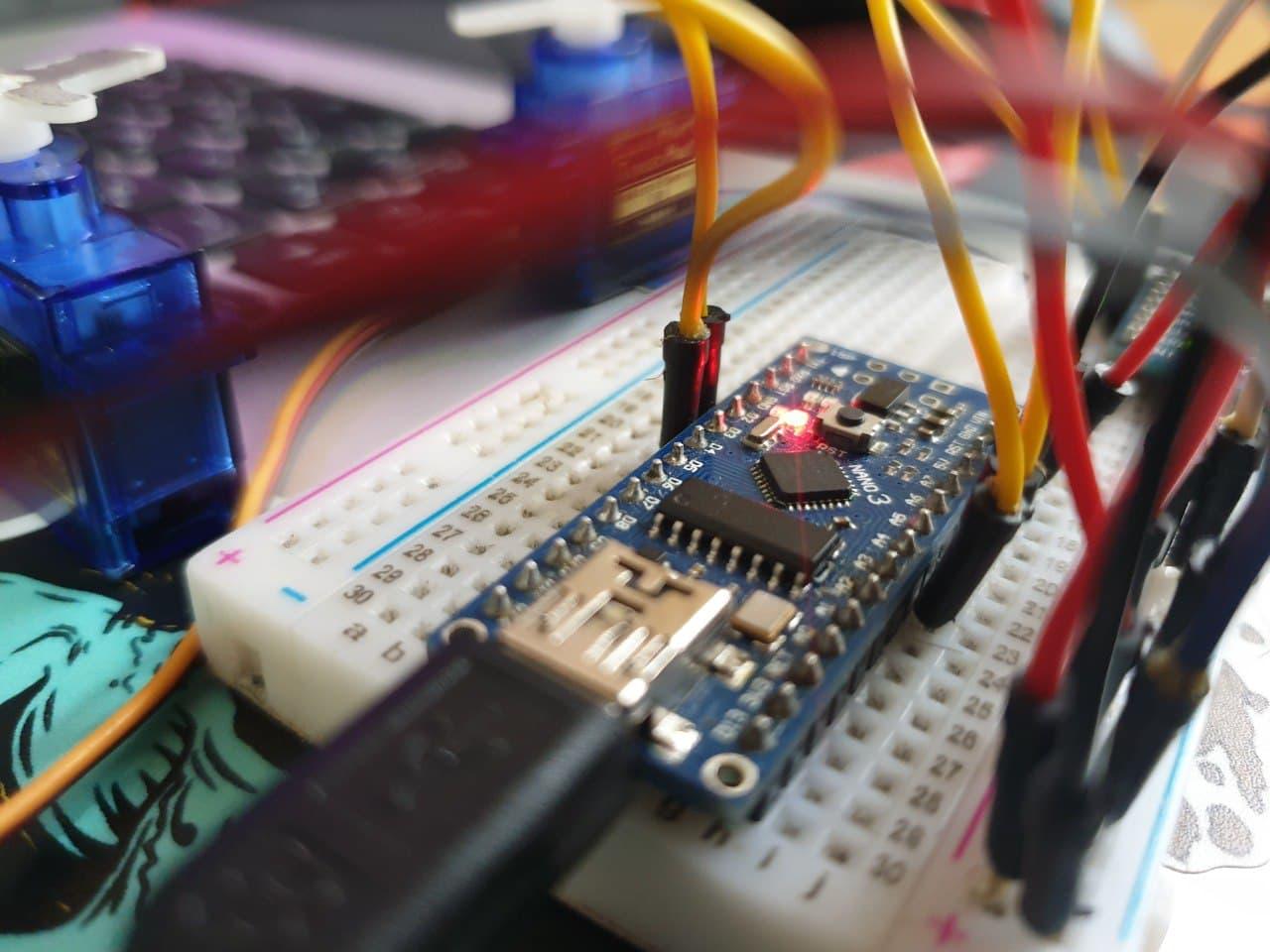 برد آردوینو نانو Nano کنترل سرو با ماژول MPU6050 - دیجی اسپارک