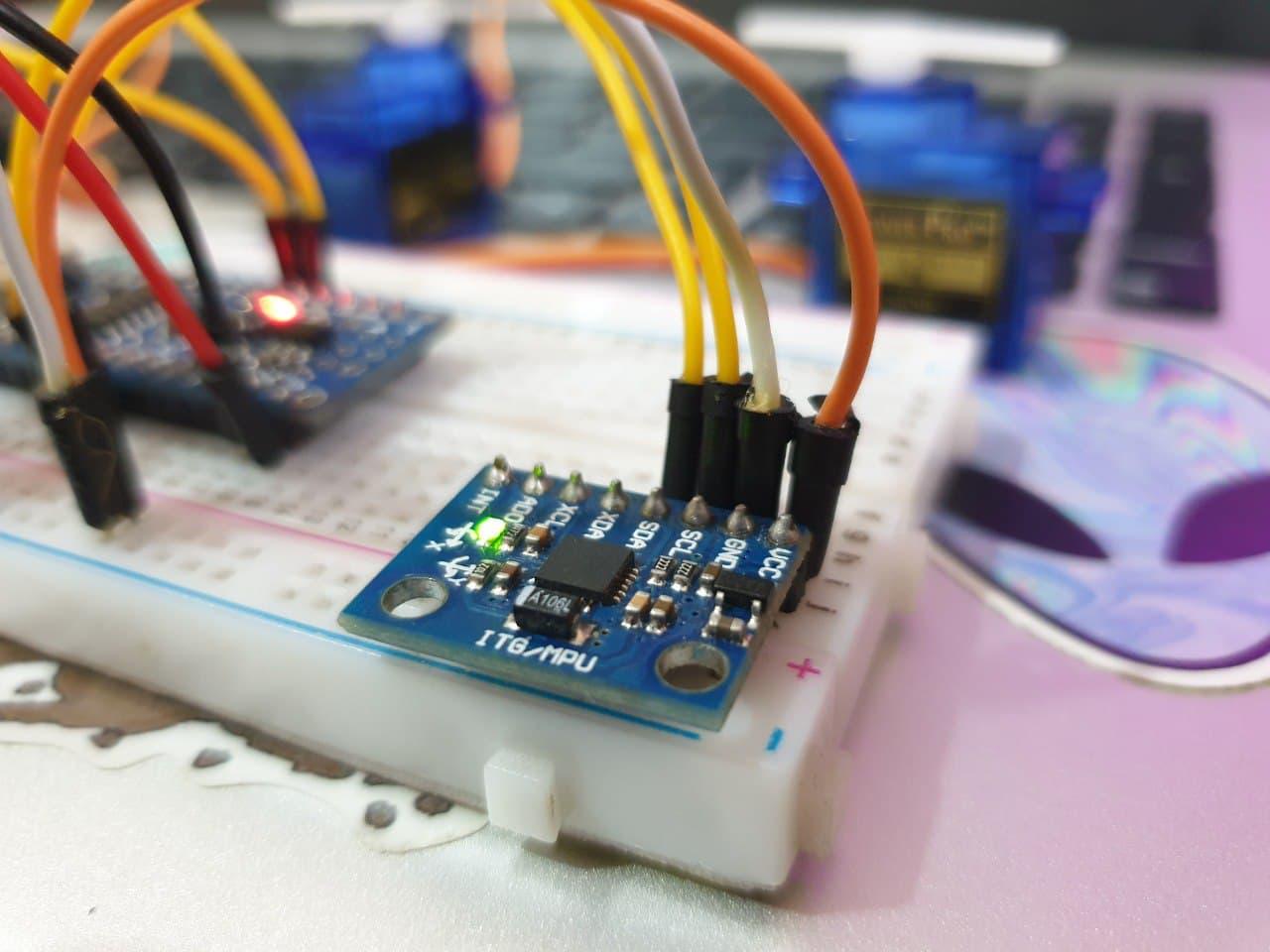کنترل سرو با ماژول MPU6050 ژایرو - دیجی اسپارک