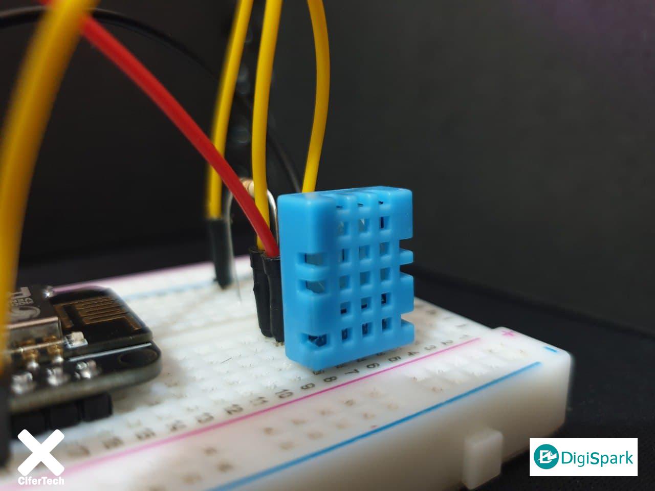 سنسور DHT11 سنجش دما و رطوبت محیط در پلتفرم اینترنت اشیا ThingSpeak - دیجی اسپارک