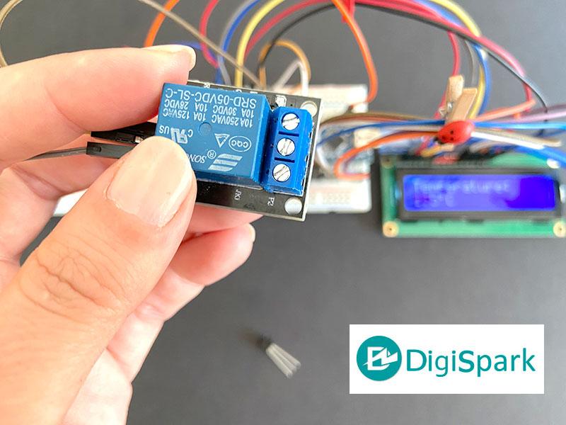 ماژول رله برای کنترل وسایل برقی و مصرف کننده ترموستات دیجیتال - دیجی اسپارک
