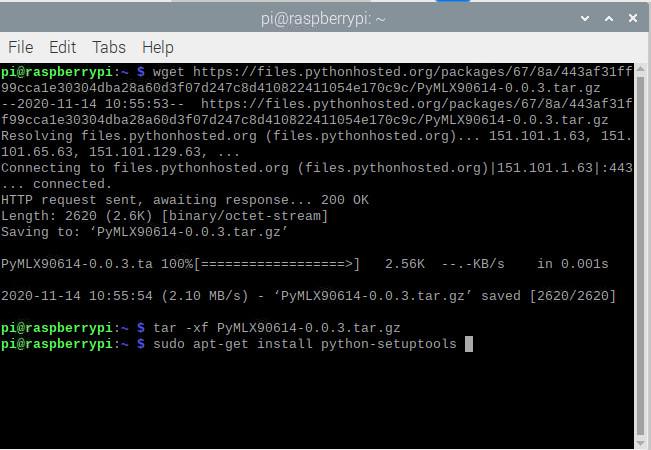 نصب پکیج sudo apt-get install python-setuptools در رزبری پای - دیجی اسپارک