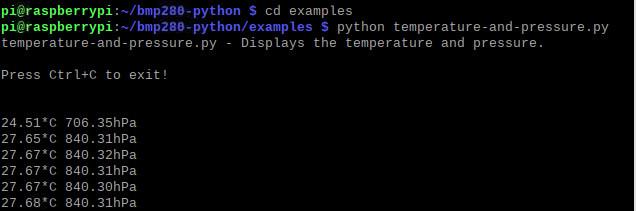 python temperature-and-pressure.py - دیجی اسپارک