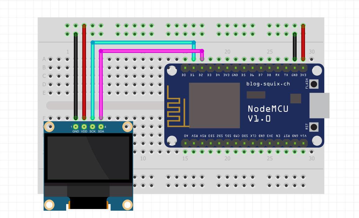 شماتیک اتصالات پروژه تست سرعت اینترنت با Nodemcu - دیجی اسپارک