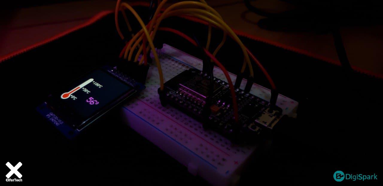 پروژه مانیتور گرافیکی دما در نمایشگر TFT 240x240 با سنسور دما LM35 و آردوینو - دیجی اسپارک
