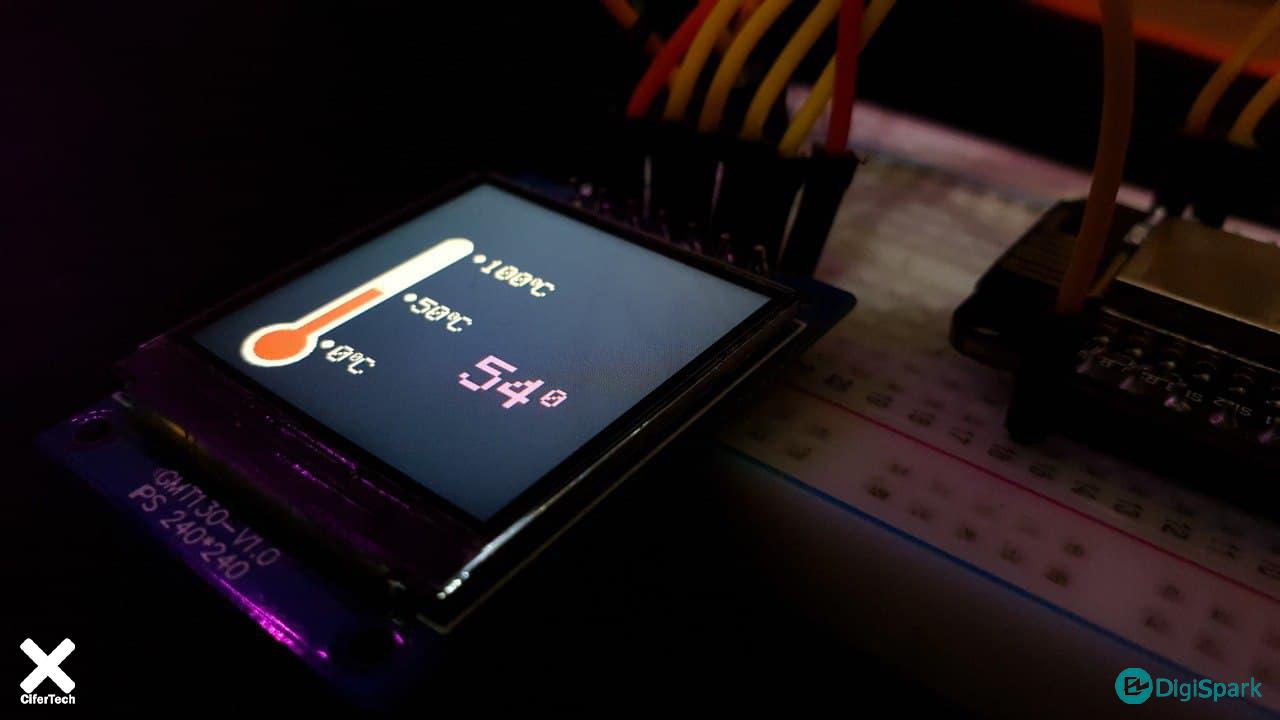 نمایشگر LCD 240x240 TFT - دیجی اسپارک