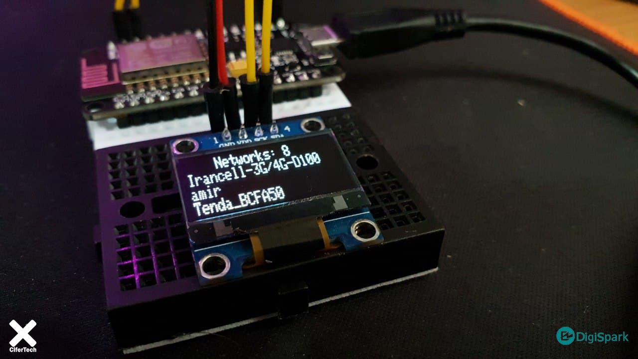 پروژه اسکنر وای فای Wifi با ماژول Nodemcu و OLED - دیجی اسپارک