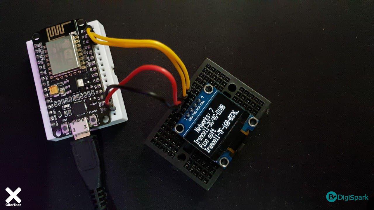 پروژه اسکن شبکه با OLED و Nodemcu - دیجی اسپارک