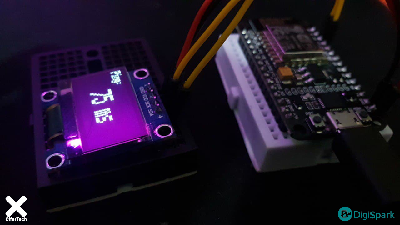 دستگاه تست سرعت اینترنت با Nodemcu و ماژول OLED - دیجی اسپارک