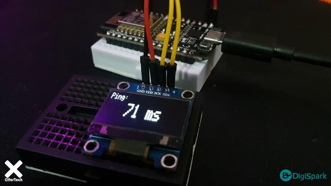 پروژه تست سرعت و پینگ اینترنت با Nodemcu و OLED - دیجی اسپارک