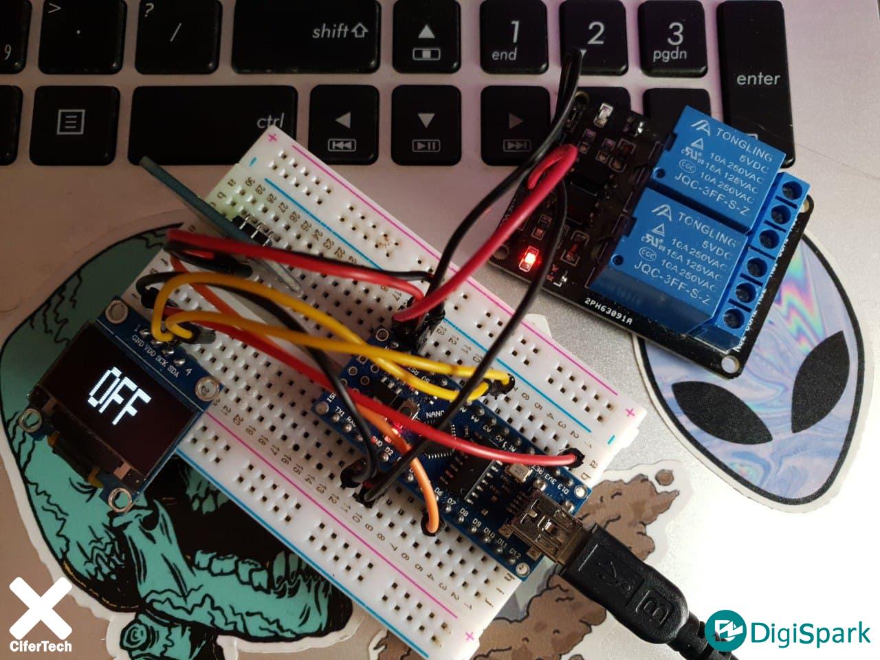 پروژه کنترل وسایل برقی با ماژول تاچ و OLED - دیجی اسپارک