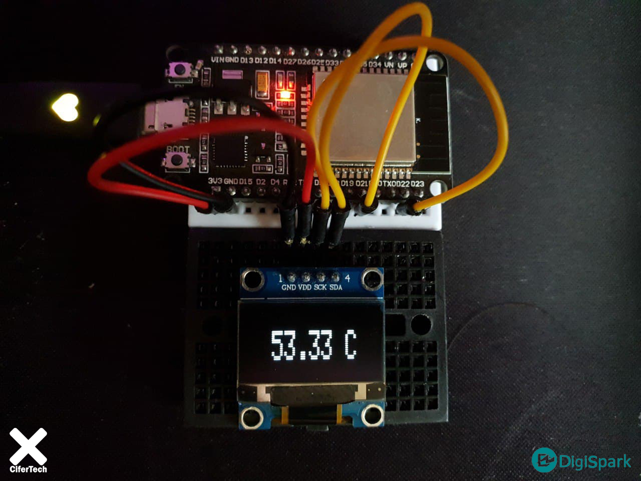 پروژه ساخت دماسنج با ESP32 - دیجی اسپارک