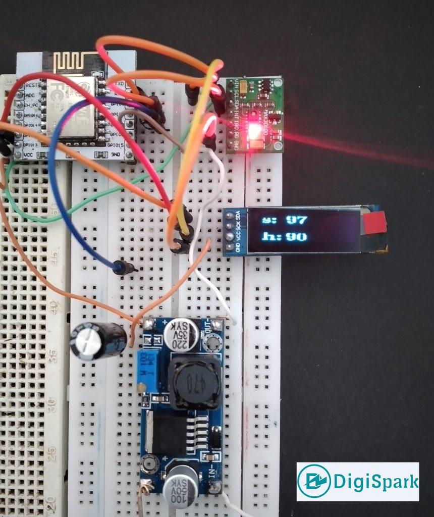 پروژه پالس اکسی متر با ESP8266 و نمایشگر OLED - دیجی اسپارک