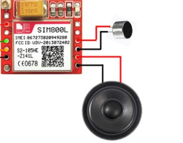 اتصال میکروفن و بلندگو به ماژول سیم کارت Sim800L - دیجی اسپارک