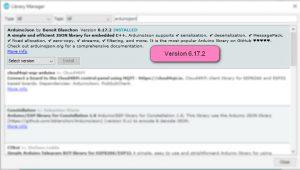 نصب کتابخانه ArduinoJson برای ارسال اطلاعات به پلتفرم اینترنت اشیا - دیجی اسپارک