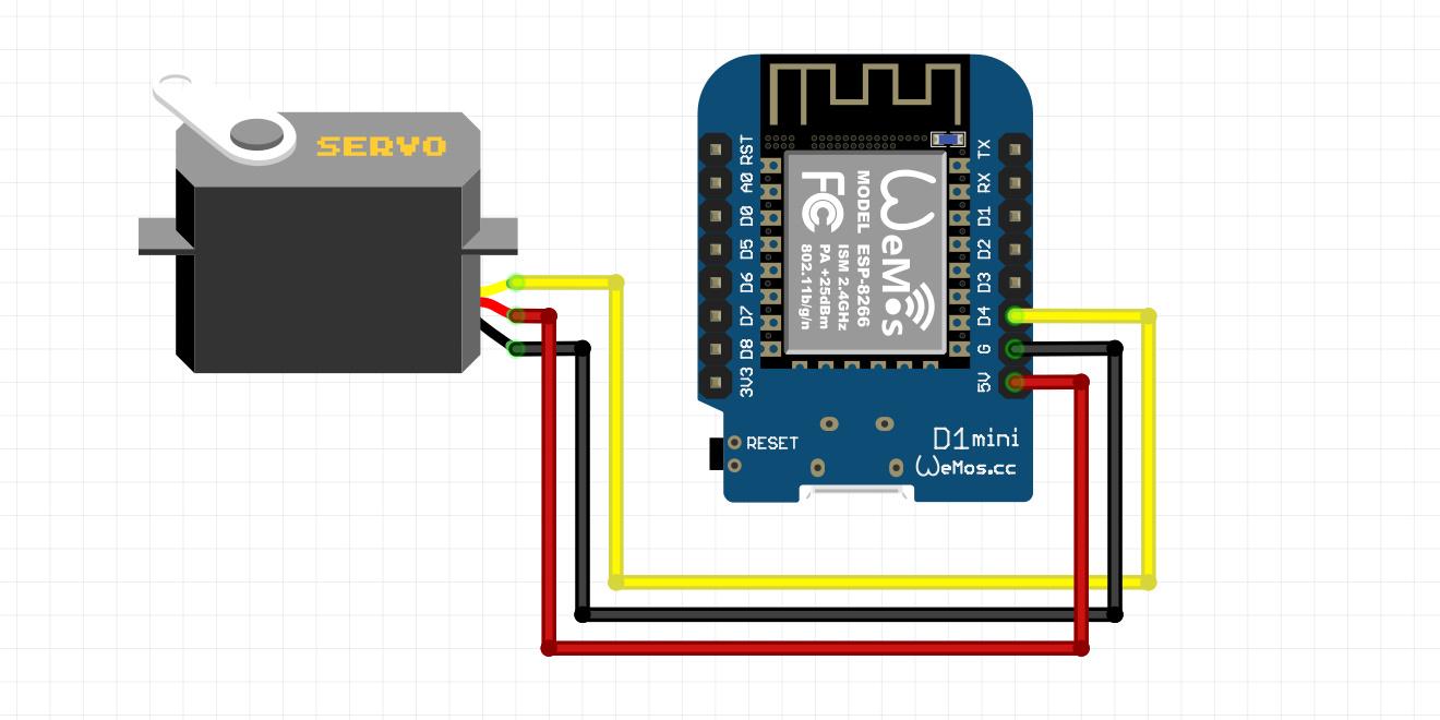 اتصالت سرو موتور SG90 به برد Wemos ESP8266 - دیجی اسپارک