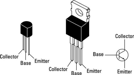 پایه های بیس کلکتور و امیتر در ترانزیستور BJT - دیجی اسپارک